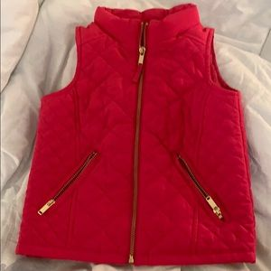 Hot Pink Quilted Toddler Vest